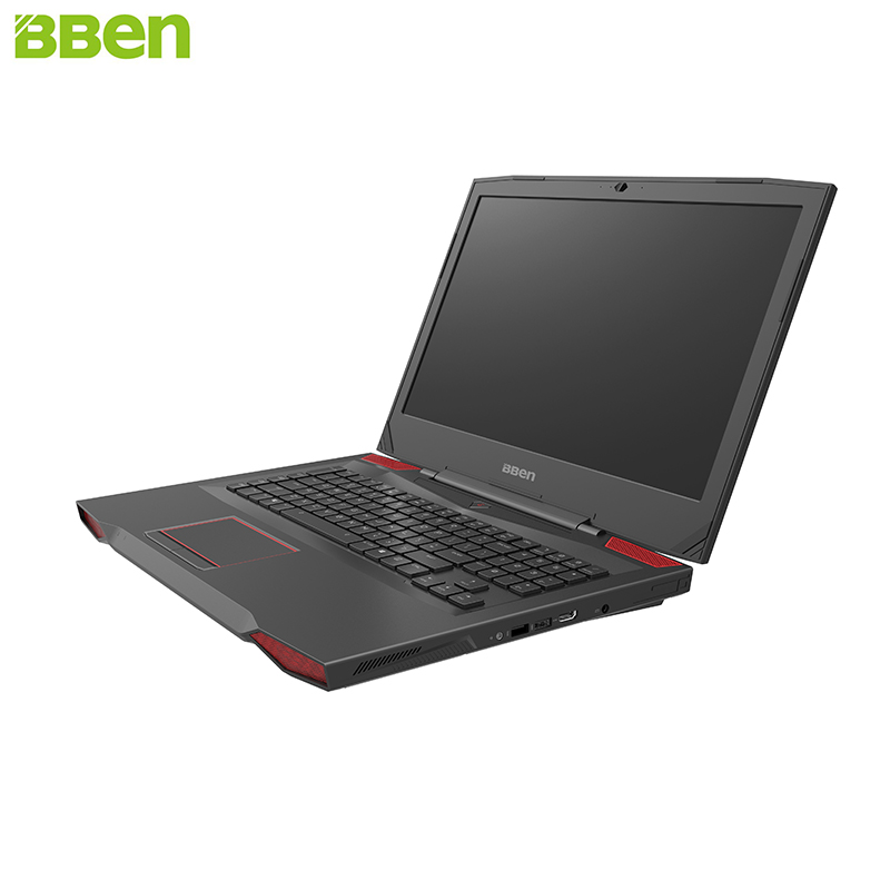 BBEN Laptop Gaming Computer Intel i7 7700HQ Kabylake GDDR5 NVIDIA GTX1060 Windows 10 <font><b>RGB</b></font> Mechanical Keyboard HD Camera Laptops image