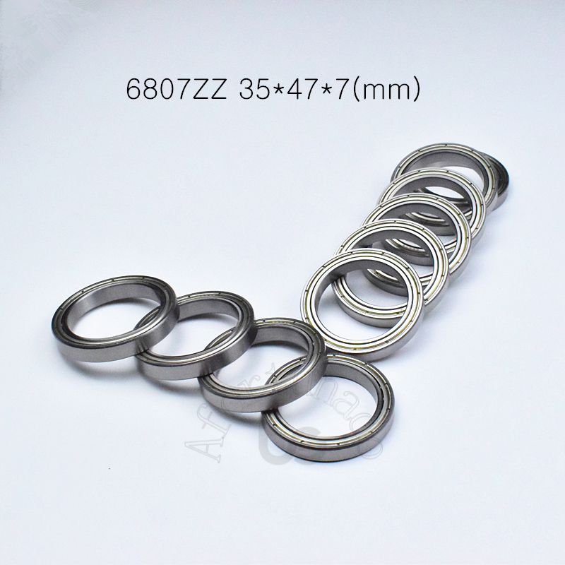 6807ZZ 35*47*7(mm) 1Piece  Bearing  Metal Sealed Bearing  6807 6807Z 6807ZZ Chrome Steel Deep Groove Bearings Free Shipping
