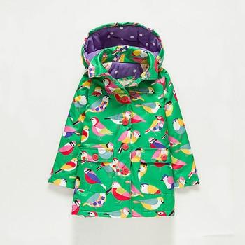 M56 Fashion Flowers Birdie Spring Autumn Child Thicken Padded Lining Jacket Hoodies Keep Warm Boy Girl Coat Tops Outwear