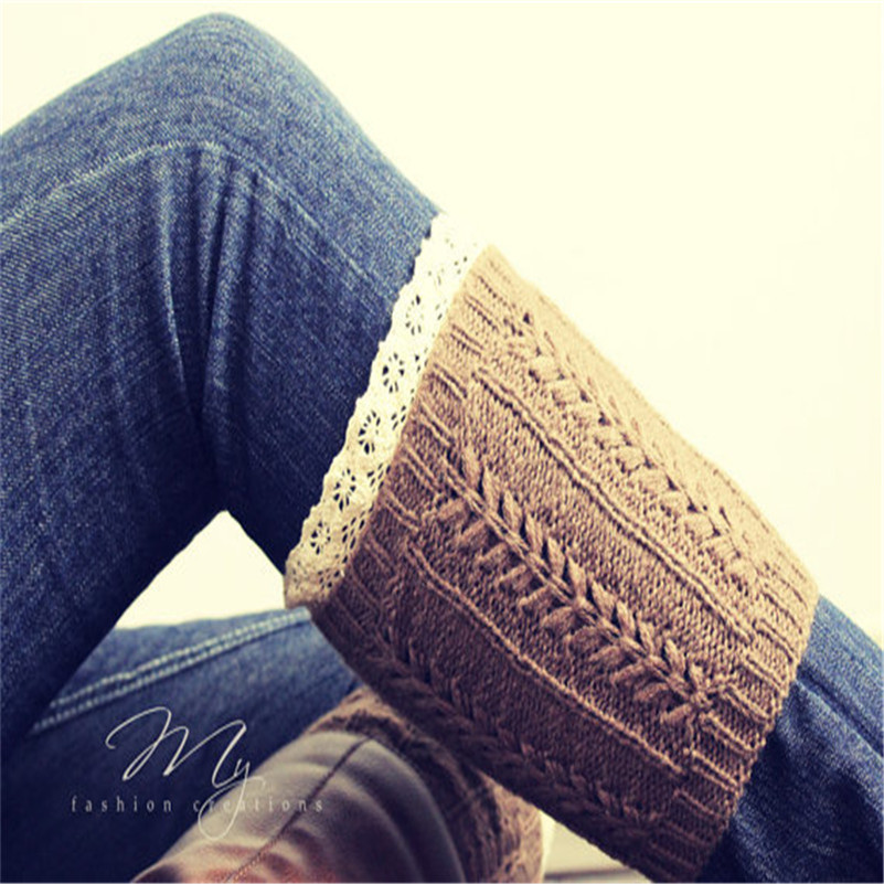 ୧ʕ ʔ୨Nuevas mujeres de ganchillo invierno pierna calentador ...