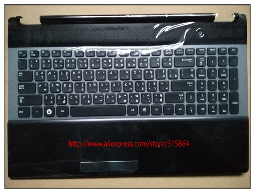 Thailand layout  New laptop keyboard with touchpad  palmrest for SAMSUNG NP RC530 RC528 BA75-03201F цена и фото