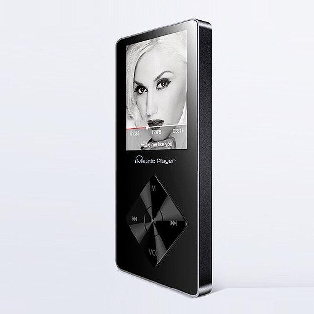 2017 Nueva Original Reproductor de MP3 Con Pantalla de 1.8 Pulgadas Se Puede Jugar 100 horas 8 GB con FM, E-libro, Walkman Grabadora de voz de Alta Calidad