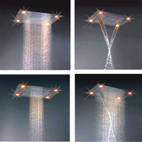 Retail 24 x 31 Stainless Steel 7 Color Led Shower Head, Colors Change without Battery, X15484