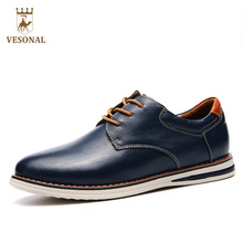 VESONAL Brand Hot Sale 2017 New Casual Man Footwear Male Shoes For Men Adult Quality Autumn Walking Breathable Genuine Leather