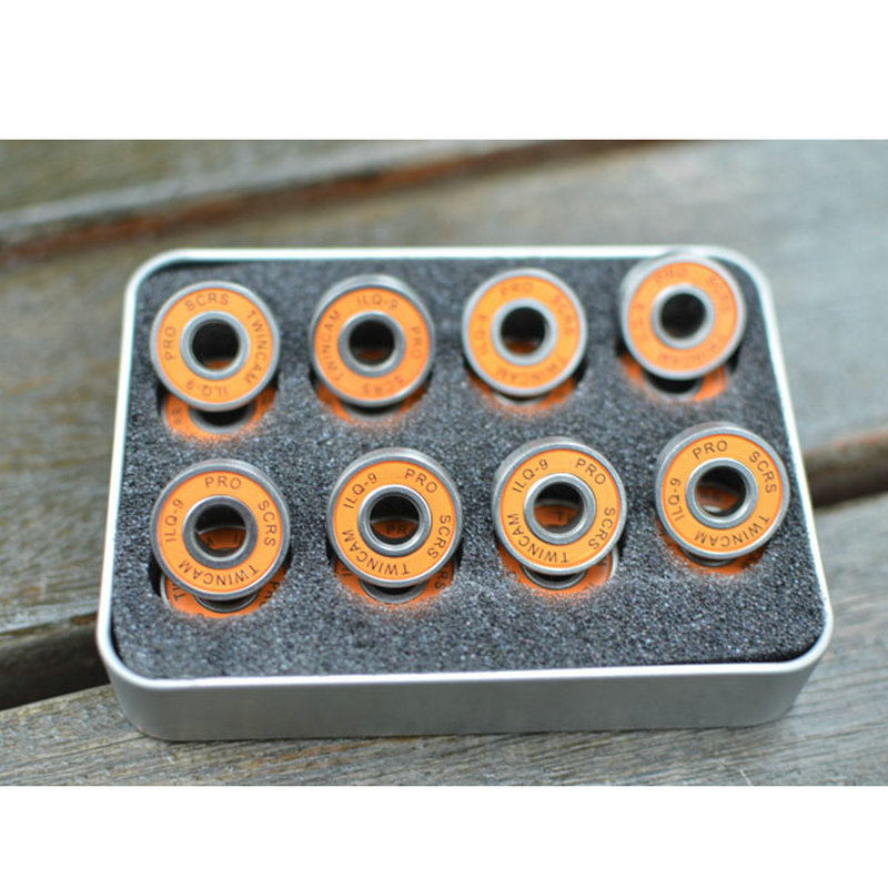 Free Shipping 16pcs/pair 608ZZ ABEC-9 Skateboard Bearings Roller Skate Bearings Ice Skate Bearings