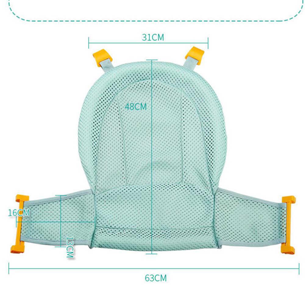 2019 折りたたみベビー幼児便利な調整可能なサポート浴槽安全シート水着新生児シャワーメッシュスリング