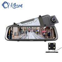 Киссен Full HD 1080 P 9,35 Дюймов Видеорегистраторы для автомобилей регистраторы автомобиля Зеркало заднего вида тире Камера Двойной объектив авт