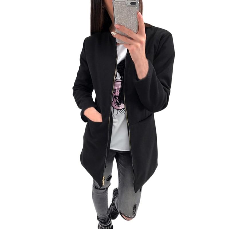 New 2017 Spring Autumn Women Warm Long Coat Fur Collar Hooded Jacket Slim Winter Parka Outwear Coats
