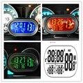 DC12V-24 V Multifuncional Cronómetro Digital Car Reloj Reloj Auto Gauge Voltímetro Alerta Freeze Termómetro Medidor de Temperatura