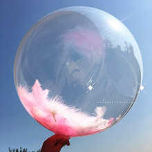 DIY Wedding Birthday Party Decoration Balloons Helium Bobo Feather Confetti Transparent PVC Balloon Favors