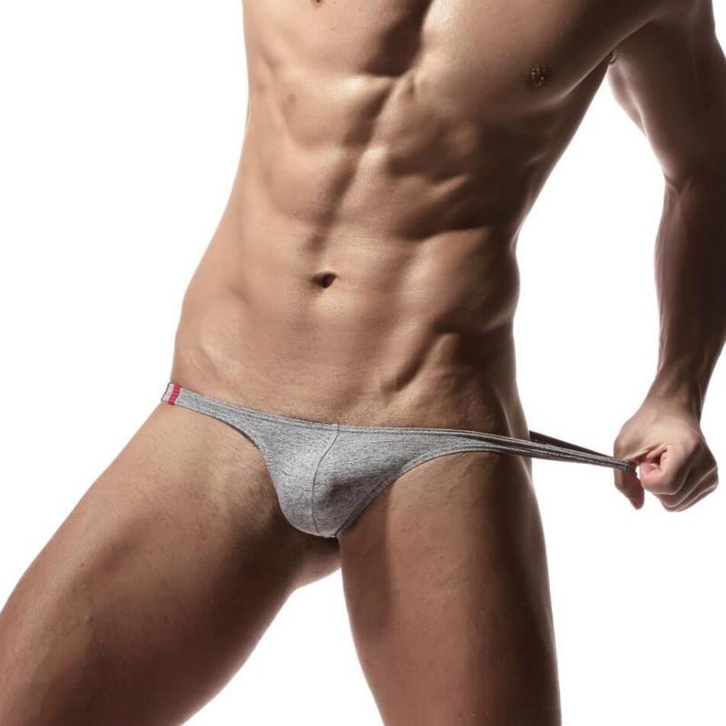Men Sexy Thongs G-String Cotton Gay Men Underwear Men's Solid Low Waist Jock Straps Erotic Lingerie Male Panties Sexy Tangas