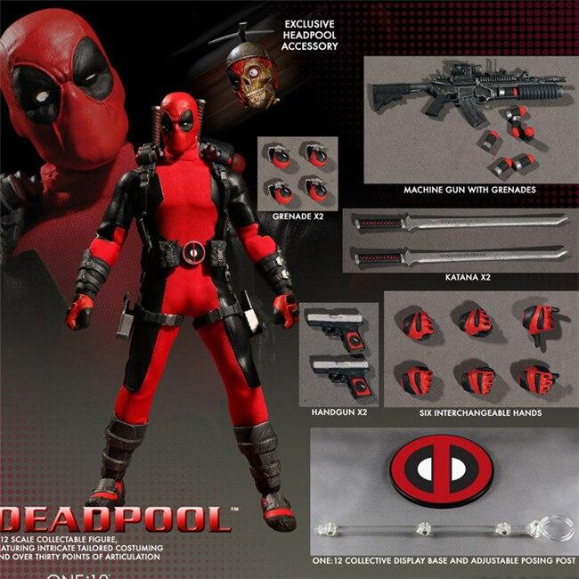 16cm Marvel Mezco Toys Super Hero Deadpool X-Men Red Blue Version One 12  Action Figure   (3)