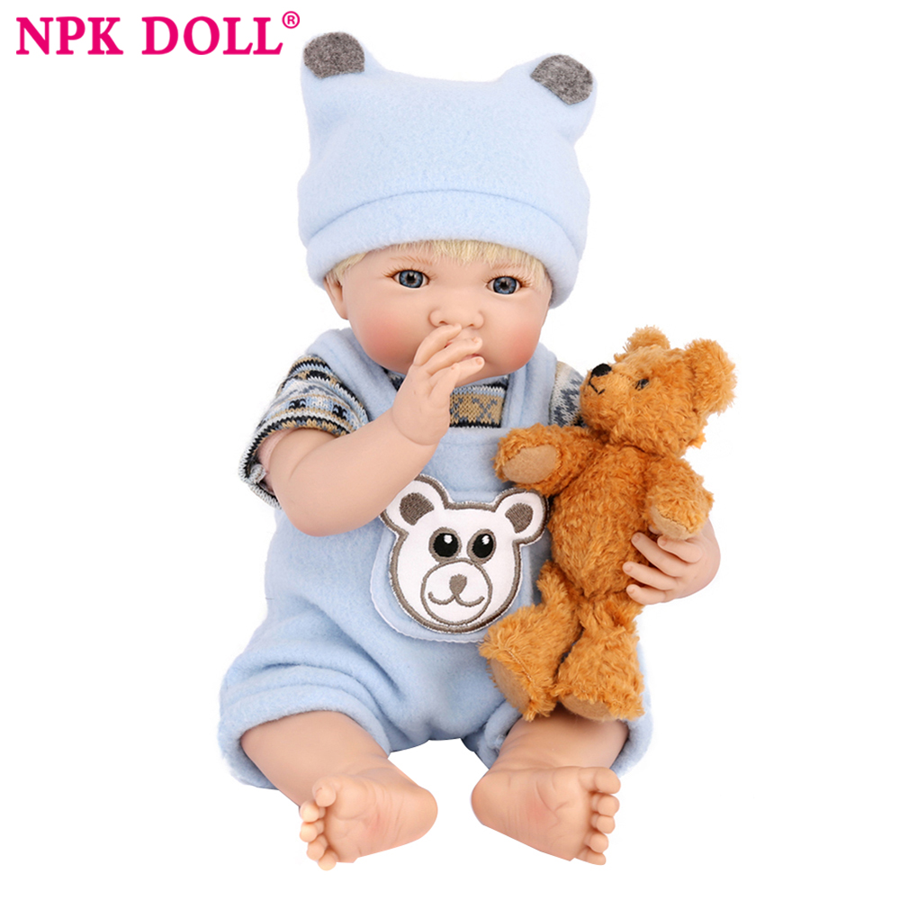 NPKDOLL 20cm Silicone Reborn Baby Doll kids Playmate Gift For boys 8 Inch Baby Alive Soft Toys For Bouquets Doll Bebe Reborn ...