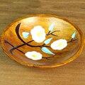 2 Pcs DIY Coasters Pratos & Bocas, placemats dish, sementes de frutas Secas tigela 3.5 polegadas pratos De Madeira mão-pintado placa decorativa bar