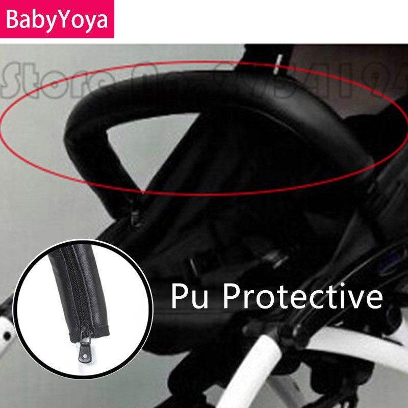 BABYYOYA Armrest Handle Pu Covers Protective Case Pram