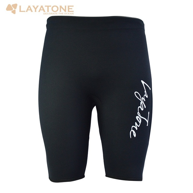 Layatone Men Shorts Black 3mm Neoprene Diving Suit Wetsuit Shorts For Surfing Swimming Snorkeling Free Diving Water Sport K1602D