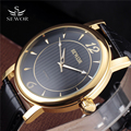 2016 New Large Dial Skeleton Fashion Mechanical Hand Wind Men Luxury Male Business Leather Strap Classic Army Gold Wrist Watch
