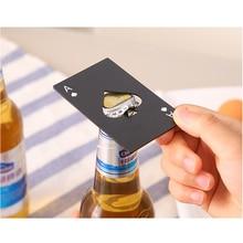 лучшая цена Creative Black/Silver Poker Card Spades Beer Bottle Opener Personalized Stainless Steel Bottle Opener Bar Tool Free Shipping 29
