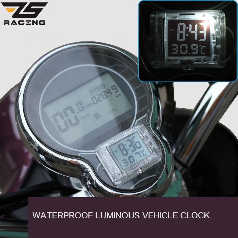 ZS Racing moto lumineuse Vehincal horloge moto ATV voiture électrique vélo montre pour Honda pour Yamaha avec température