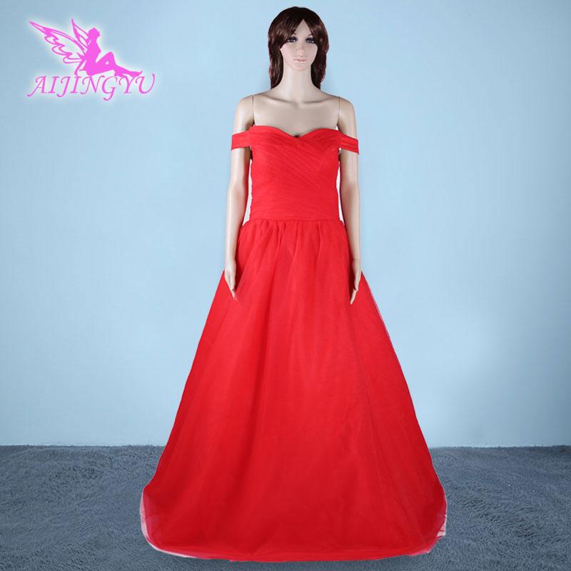 AIJINGYU 2018 new free shipping red sexy women girl princess sleeve luxury wedding  gowns dresses good wedding dress sy266-in Wedding Dresses from Weddings ... 1e0e4c3a0df5