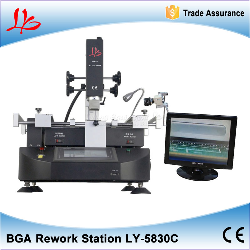 LY-5860 lcd touch screen BGA Rework Station hot air 3 zones for Laptop Motherboard Chip Repair 4800W shuttle star sp380iitouch screen hot air bga rework station sp 380ii free tax to russia