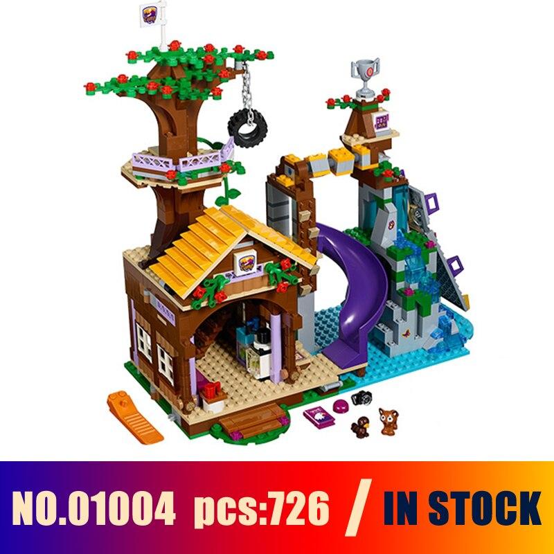 Galleria fotografica Modelli di Costruzione Del Giocattolo Campo Avventura Casa Sull'albero Figura 726 pz 01004 Building Blocks Compatibile Con <font><b>Lego</b></font> <font><b>Friends</b></font> 41122 Giocattoli e Modellismo