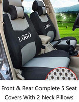 Car Seat Covers Front&Rear Complete 5 Seat For Toyota Honda Nissan Mazda Lexus Jeep Subaru Mitsubishi Suzuki Kia Hyundai Covers