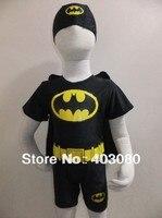 2-6 jahre schwarz kinder ein stück anzug badebekleidung, boy Batman badeanzug baby swimtrunks, Freies verschiffen, großhandel & einzelhandel