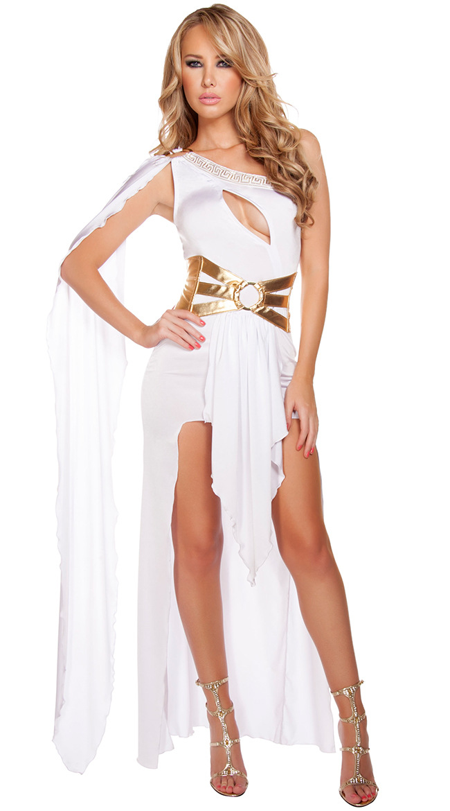 Greek goddess The cleopatra ancient egypt Queen Long white Dress Indian female Halloween ...