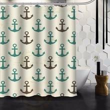 Nanaz Fabric Custom Retro Seamless Pattern Nautical Anchor