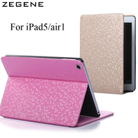 Hot Sale For Apple IPad5 Air1 Case Auto Sleep Wake Up Flip Litchi PU Leather Cover