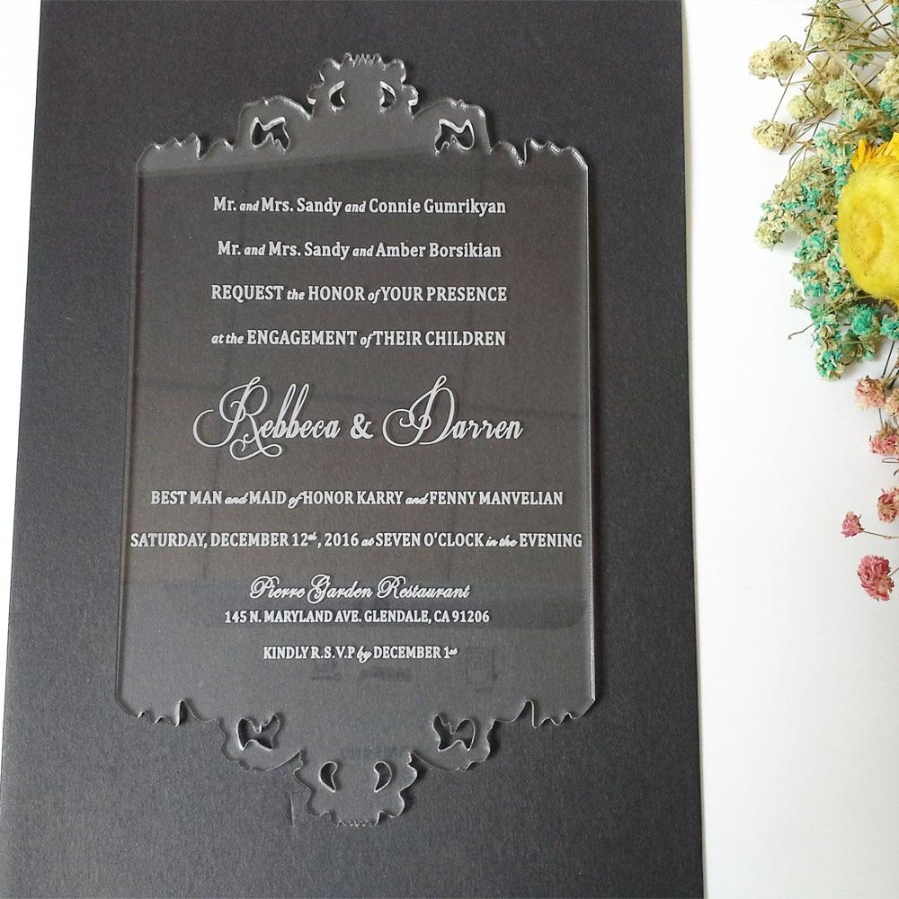 Tarjeta personalizada de invitación de boda de acrílico - Para fiestas y celebraciones - foto 2