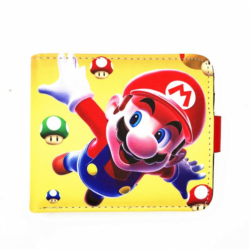 Super Mario World кожаный бумажник сложенный кошелек мультфильм творческий Короткие Кошельки ребенок подарок W480