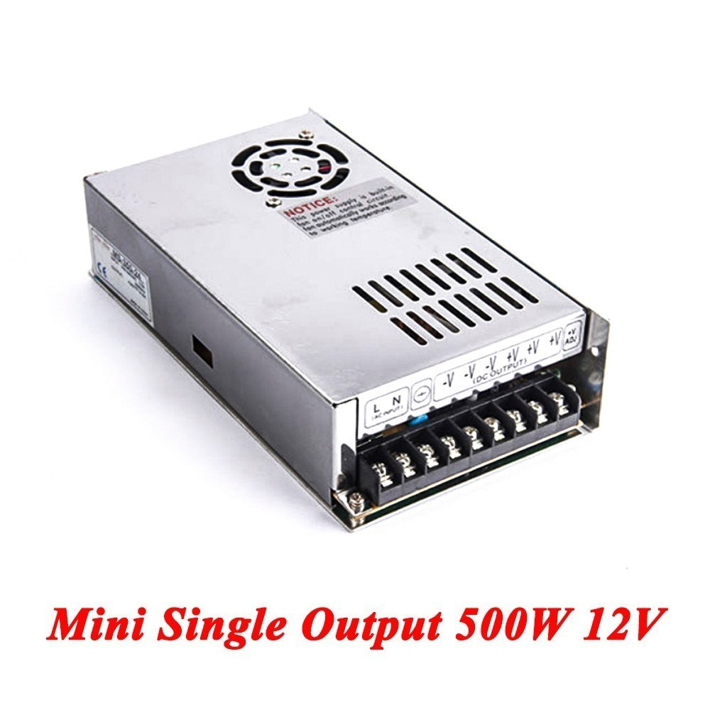 Mini Switching Power Supply,500W 12v 41.6A Single Output Ac-dc Power Supply For Led Strip,AC110V/220V Transformer To DC 5V single output switching power supply 13 5v 59a 800w transformer 110v 220v ac to dc 13 5 v smps for electronics led strip display