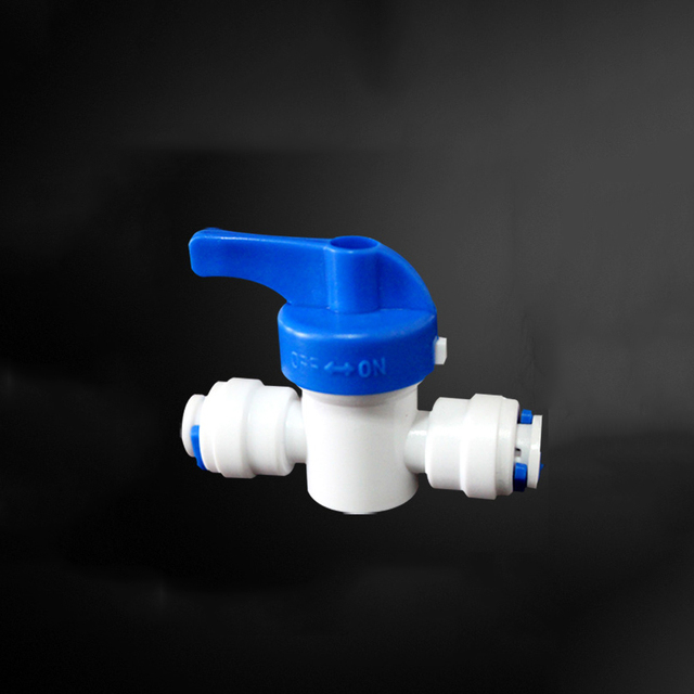 """1/4"""" Tube Quick Fitting Tap Shut Off Ball Valve Connection RO Water Connector Reverse Osmosis Aquarium System Pipe Fittings"""