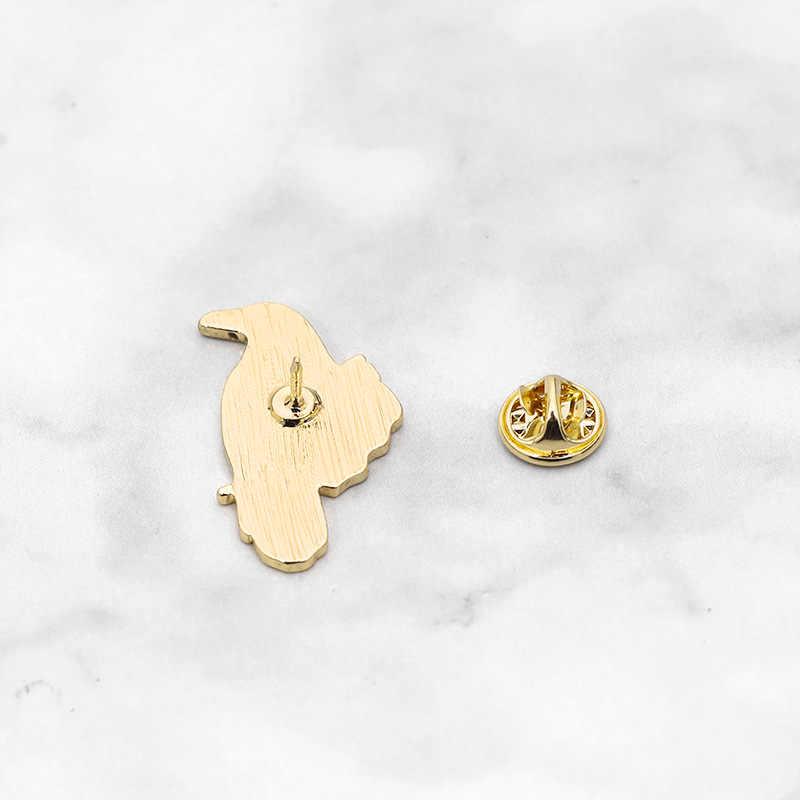 Kartun Ranting Burung Bros untuk Wanita Kreatif Animalenamel Pin Jilbab Pin Denim Pin BTS Pin Jaket Ransel Perhiasan Hadiah