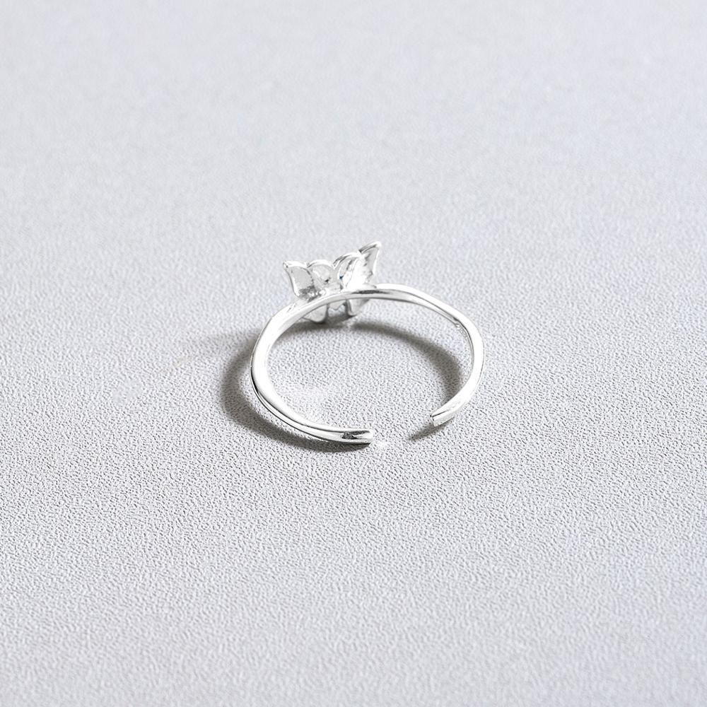 CHENGXUN Delicate Blue Butterfly Rings for Women Lady Finger Rings Opening Design Femme Bijoux Bague Elegant Style Gift 3