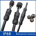 1 шт. водонепроницаемый разъем 2 Pin 3 Pin M19 IP68 электрический клеммный провод соединитель винт и паяльный штифт разъем для светодиодной лампы