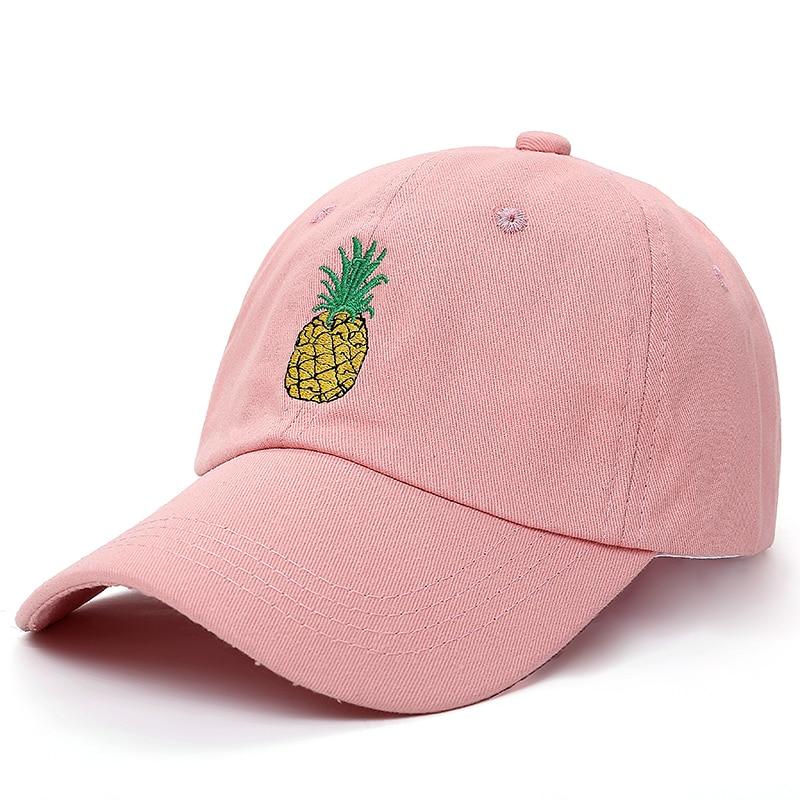 VORON neue Ananas Bestickte Baseballkappe Lustige Frisches Obst Hipster Hut Ananas Dad Hut Baseball-Cap