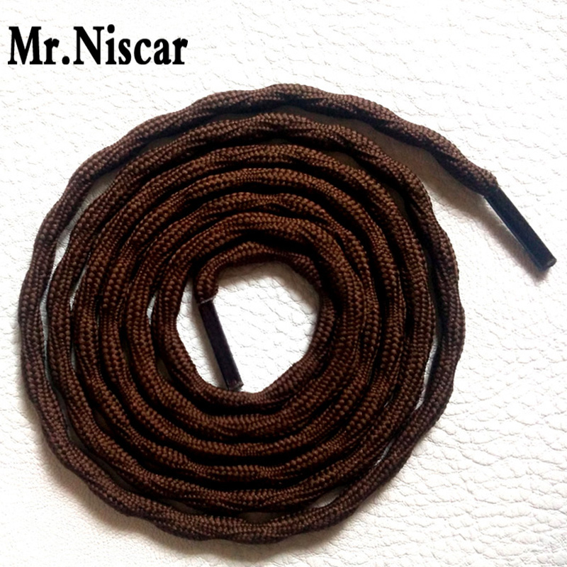 Mr.Niscar 5 Pair New Style Outdoor Round Crude Climbing Shoelaces Wear Rough Sport Leisure Polyester Strong Shoe Laces Strings