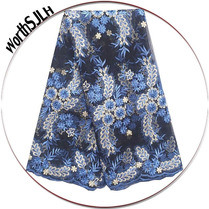 Nigerii francuski koronki tkaniny 2018 afryki tiulu koronki tkaniny wysokiej jakości indyjski Teal zielony niebieski koronki tkanina z koralikami i kamienia w Koronka od Dom i ogród na AliExpress - 11.11_Double 11Singles' Day 1