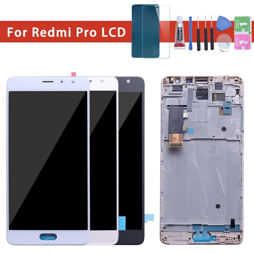 AMOLED 5.5 Display LCD Original Para XIAOMI Redmi Pro Toque Digitador Da Tela com Moldura de Substituição para Xiaomi Redmi Pro Exibição