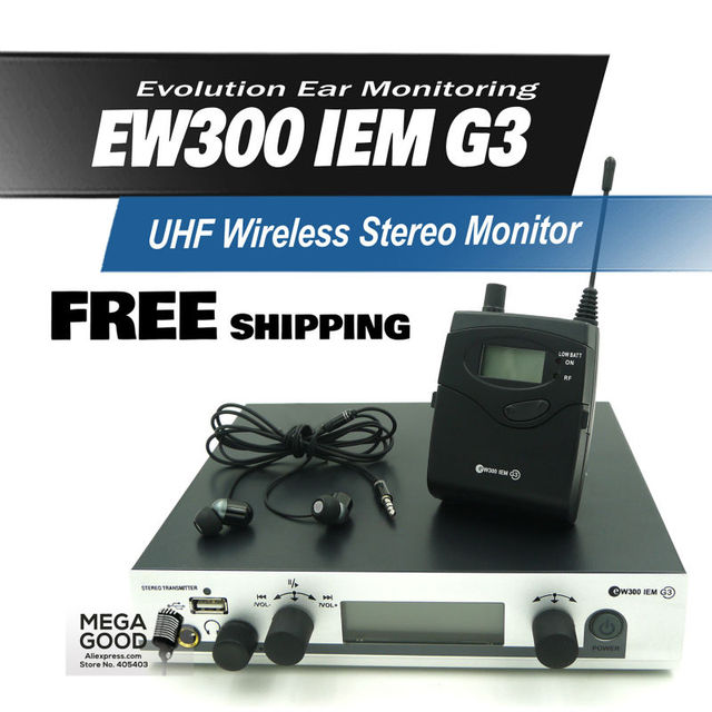 Free Shipping!! EW300IEM G3 EW300G3 Professional Wireless Stereo Monitor System With USB Function High Quality In Earphones