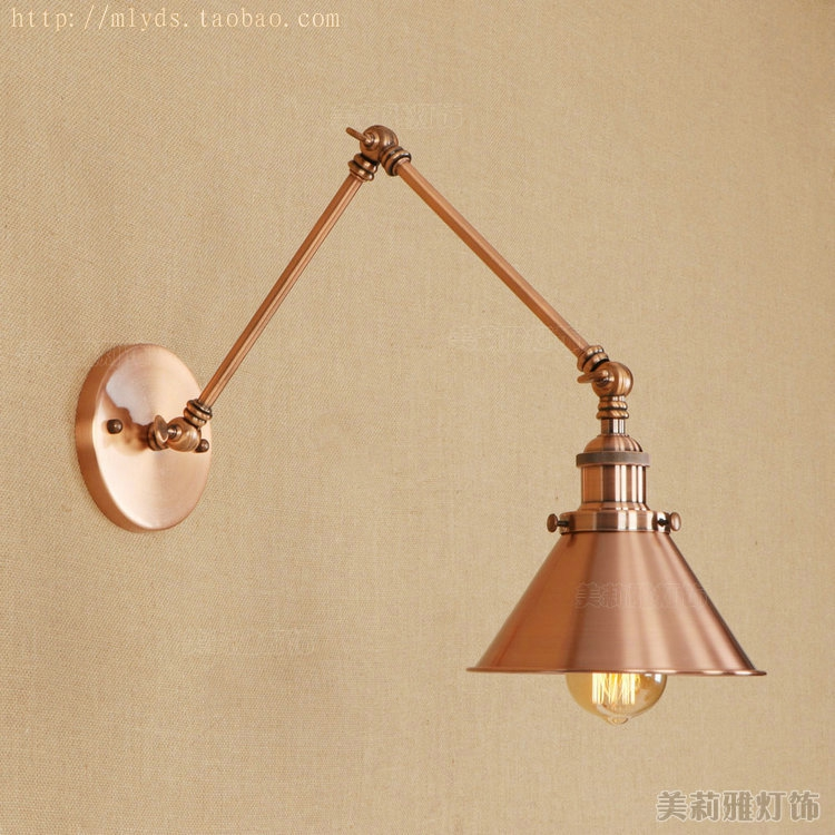 E27 Vintage Industrial Wall Lamp Loft Creative Swing Arm Sconce Balcony Stair Porch Restaurant Bar Bedroom Wall Light Home Light e27 vintage industrial wall lamp loft creative sconce balcony stair porch restaurant bar bedroom decoration home light with bulb