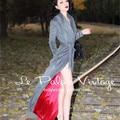 le palais vintage winter women 50's gray elegant long maxi wool coat pinup manteau femme cashmere abrigos mujer casaco feminino