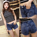 plus size jeans shorts women summer style 2016 bermuda feminina Embroidery denim shorts female mini ladies shorts sexy A0274