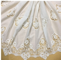 Cotton Unilateral Positioning Water Soluble Embroidery Lace Fabric Skin Friendly Soft Summer Dress Lace Fabric RS880