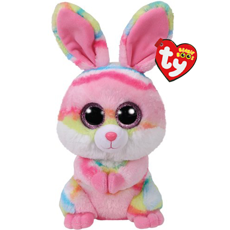 Ty Beanie Boos Cute Animals Colorful Rabbit Plush font b Toy b font Doll Christmas Gift