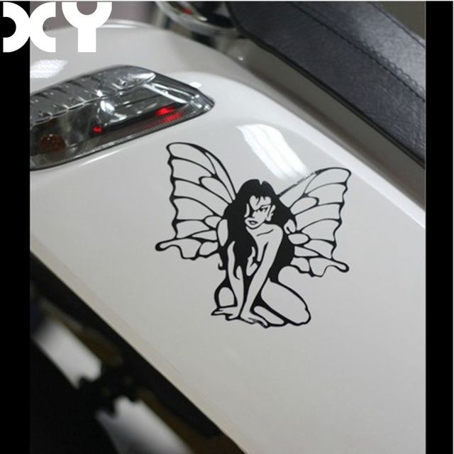 Waterproof car sticker high quality decals angel and devil car styling car accessories reflective type car
