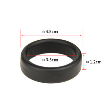 2 PCs Black Soft Silicone Rubber Band Dick Ring For Men's